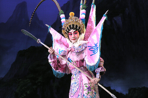 Cantonese Opera performer as the character Nine-tailed Fox
